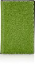 Valextra Men's Vertical Business Card Case-GREEN, LIGHT GREEN