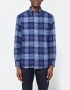 Gitman Brothers 1-Sided Check Flannel in Blue