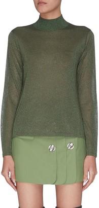 C/Meo 'Boundary open back metallic knit top