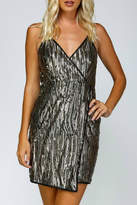 Minuet Sequin Wrap Dress