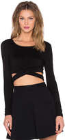 Lovers + Friends x REVOLVE Olympic Long Sleeve Crop Top