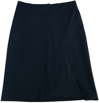 Versus Black Wool Skirt for Women Vintage