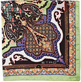 Etro Men's Abstract-Paisley Pocket Square-GREEN