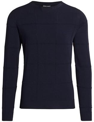 Giorgio Armani Windowpane Knit Sweater