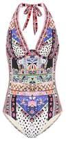 Camilla Embellished halter swimsuit