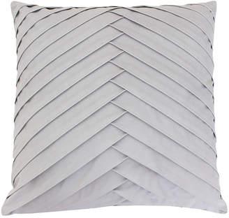 """Thro James Pleated Velvet Pillow, 20"""" x 20"""""""