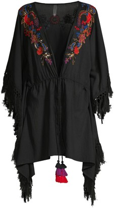 Amoressa By Miraclesuit Camille Indochine Embroidered Beach Wrap