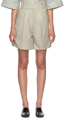 Low Classic Beige Cuffed Shorts