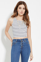 Forever 21 FOREVER 21+ Stripe Crop Top