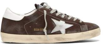 Golden Goose Superstar Suede Low-top Trainers - Mens - Brown Multi