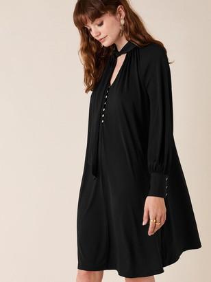 Monsoon Tie Sustainable Smart Short Dress - Black