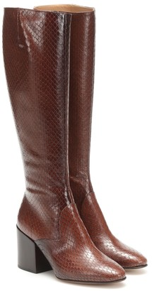 Dries Van Noten Embossed leather boots