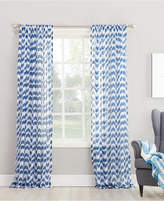 "Lichtenberg No. 918 Silvia 50"" x 95"" Chevron-Print Sheer Rod Pocket Curtain Panel"