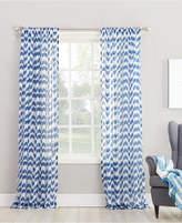 Lichtenberg No. 918 Silvia Chevron-Print Sheer Rod Pocket Curtain Panel Collection