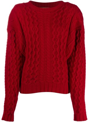 Andamane Boxy Cable Knit Jumper