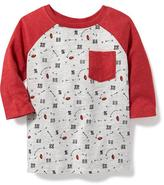 Old Navy Printed Raglan-Sleeve Tee for Toddler Boys
