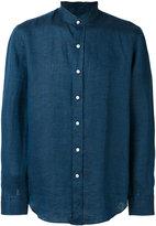 Salvatore Piccolo plain shirt - men - Linen/Flax - 38