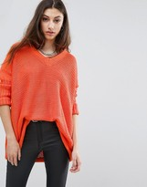 Noisy May Relaxed Rib Knit Sweater