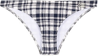 Solid & Striped Plaid Bikini Briefs