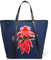 See by Chloe Andy Appliquéd Denim Tote - one size