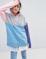 Lazy Oaf Panel Zip Sweatshirt