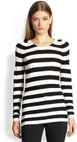 Burberry London Striped Knit Top