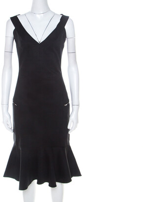 Preen by Thorton Bregazzi Black Stretch Cotton Morgan Dress XS