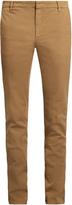 Kenzo Slim-leg cotton-blend gabardine chino trousers