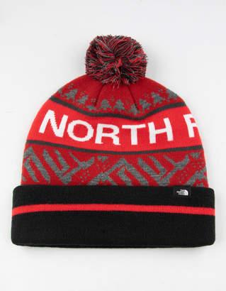 The North Face Ski Tuke V Red Mens Pom Beanie