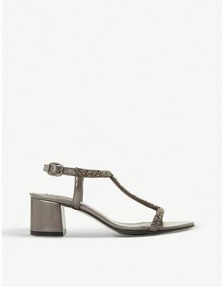 Dune Joelle embellished block-heel sandals