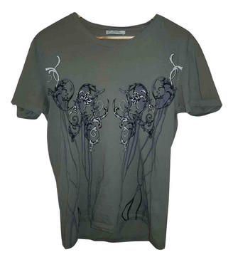 Versace Grey Cotton T-shirts