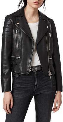 AllSaints Halley Leather Biker Jacket