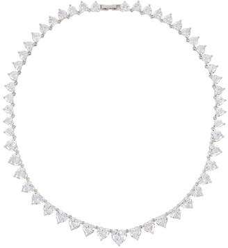 Fallon Monarch Crystal-embellished Silver-tone Necklace