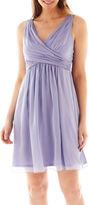 Liliana Simply Sleeveless Chiffon Fit-and-Flare Dress