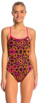 adidas Women's Kaleidoscope Open Back One Piece Swimsuit 8150224