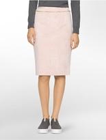 Calvin Klein Suede Straight Suit Skirt