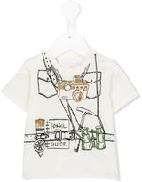 Stella McCartney explorer print Chuckle T-shirt - kids - Cotton - 6 mth