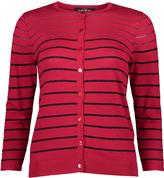 August Silk Ruby & Black Stripe Cardigan