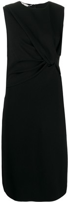 Stella McCartney Fitted Black Dress With Twist Knot Detail