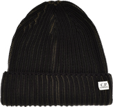 C.P. Company Two Tone Beanie Hat Green