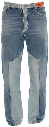 Heron Preston Contrast Patchwork Straight-Leg Jeans