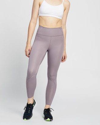 Nike Women's Purple Tights - One Luxe 7-8 Lacing Tights - Size XS at The Iconic