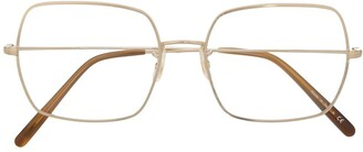 Oliver Peoples Square Wireframe Glasses