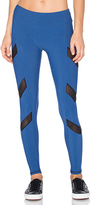 Lanston SPORT Tate Chevron Leggings in Blue. - size XS (also in )