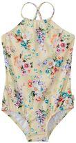 Seafolly Girls' Swan Lake Tank One Piece Swimsuit (07) - 8147993