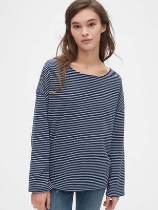 Gap Relaxed Stripe Boatneck T-Shirt