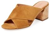 Sigerson Morrison Rhoda Suede Crossover Sandal