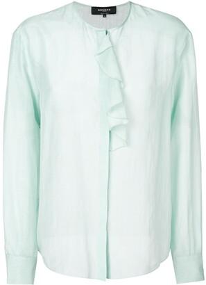 Rochas ruffle trim blouse