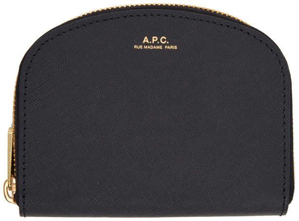 A.P.C. Navy Half-Moon Compact Wallet
