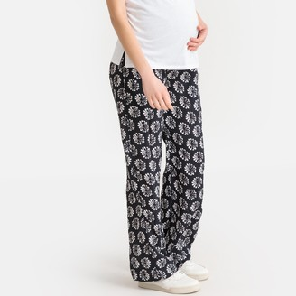 La Redoute Collections Floral Print Maternity Trousers, Length 29""